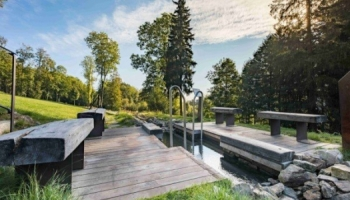 Balneopark v Lázních Jeseník